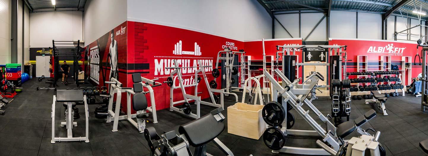 salle de musculation et cardio training