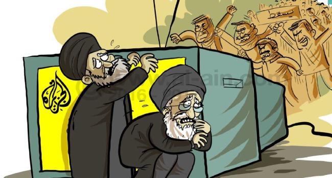 تنسيق قطري إيراني .. وإعلام الدوحة يرتدي جلباب الملالي