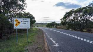 road sign on the way to Bicheno