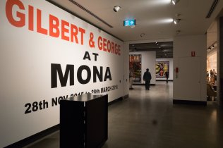 the Gilbert and George Exhibit at Hobart's MONA