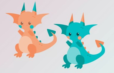 Illustrator practice dragons