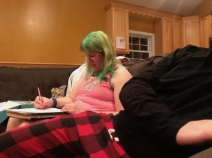 Kathy doodling