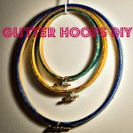 Easy Glitter Hoop DIY