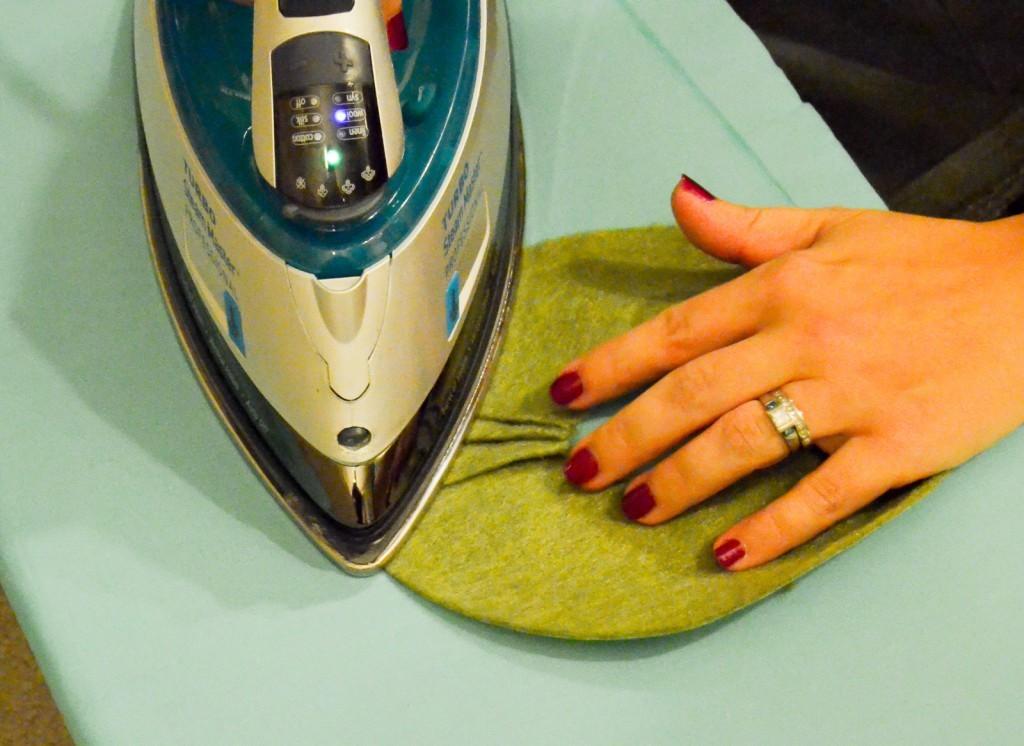 iron the pleats