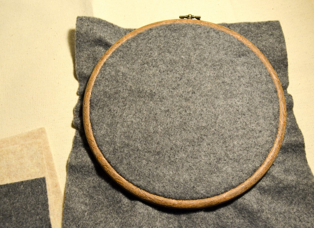 felt in hoop