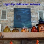 Light-Up Halloween Artwork