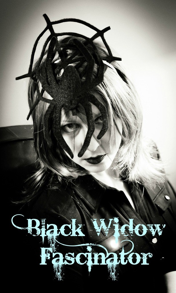 Black Widow Fascinator