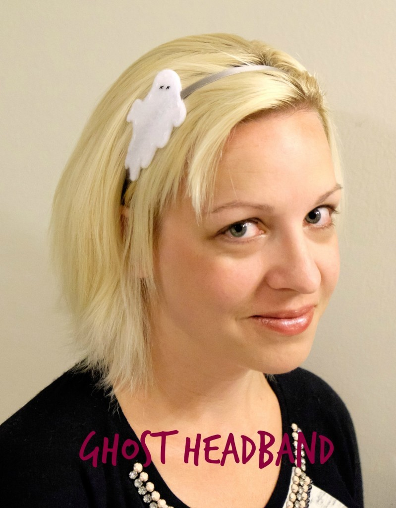 Ghost Headband by Albion Gould | Mabey She Made It | #halloween #headband #ghost #hair #costume