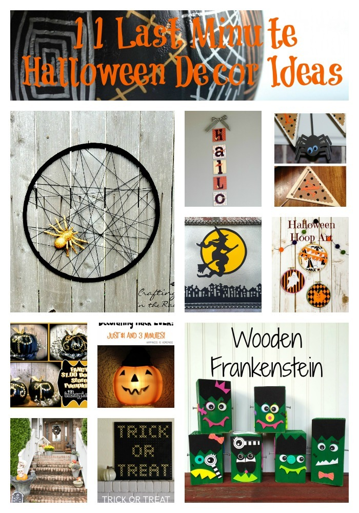 Last Minute Halloween Decor Ideas