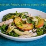 Chicken, Peach, and Avocado Salad