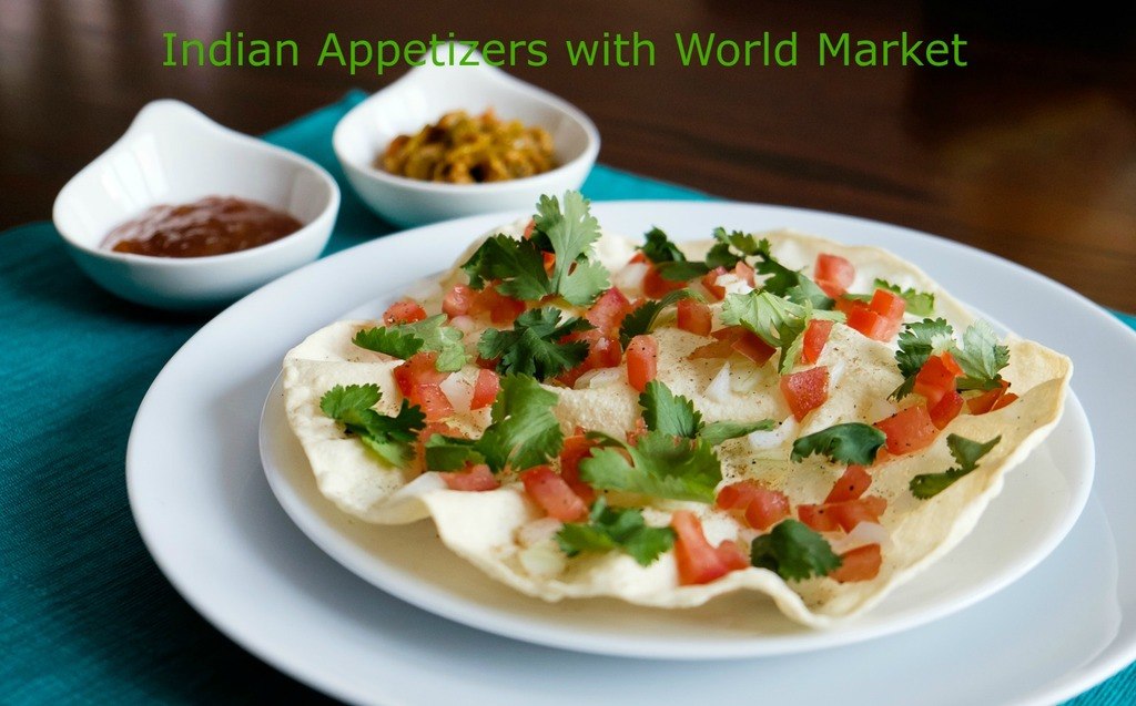 Easy indian appetizers with world market albion gould masala papad indian appetizer with world market forumfinder Images