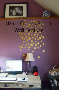 Uzma Circles Stencil Wall Feature
