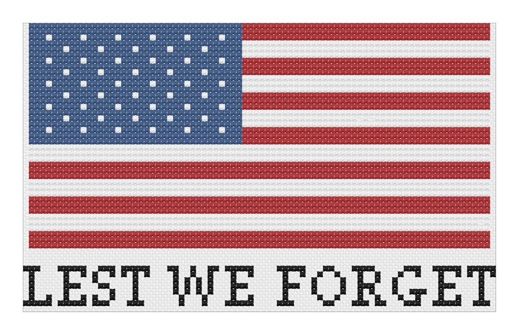 Lest We Forget Cross Stitch Pattern by @albiongould