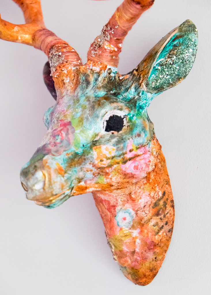 Mixed Media Deer Head