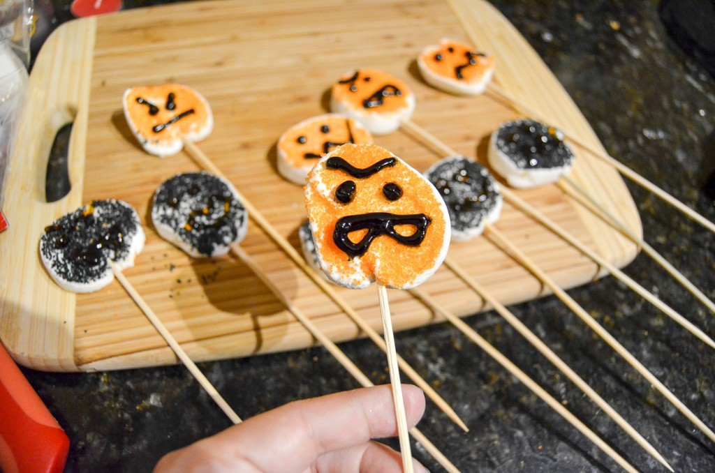 skewer the marshmallows