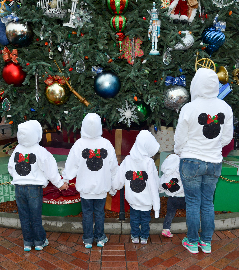 Holly Bow Minnie Mouse Hoodies
