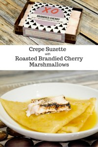 Crepe Suzette with Roasted Brandied Cherry Marshmallows