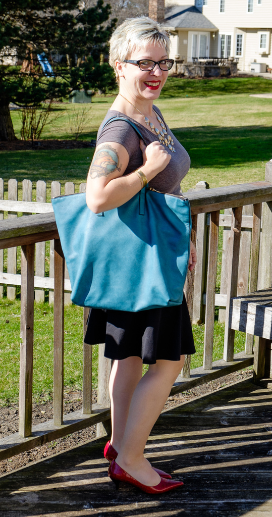 March Stitch Fx with South Hampton Tote and Juliet Mini Swing Skirt