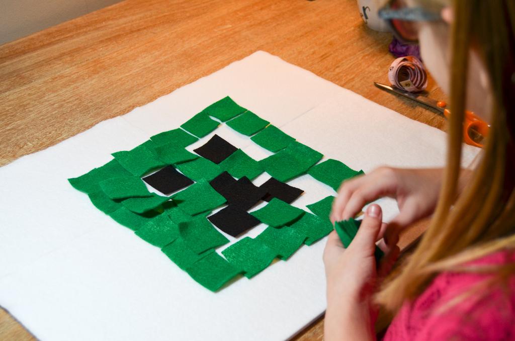 Felt Minecraft Busy Board