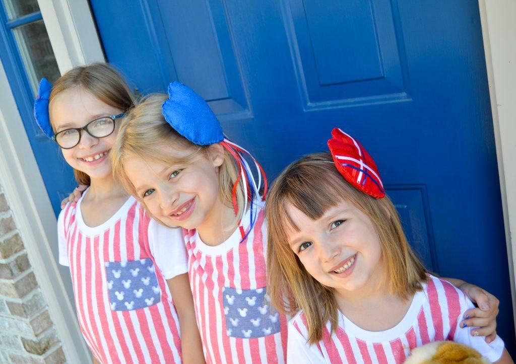 Patriotic Heart Headbands