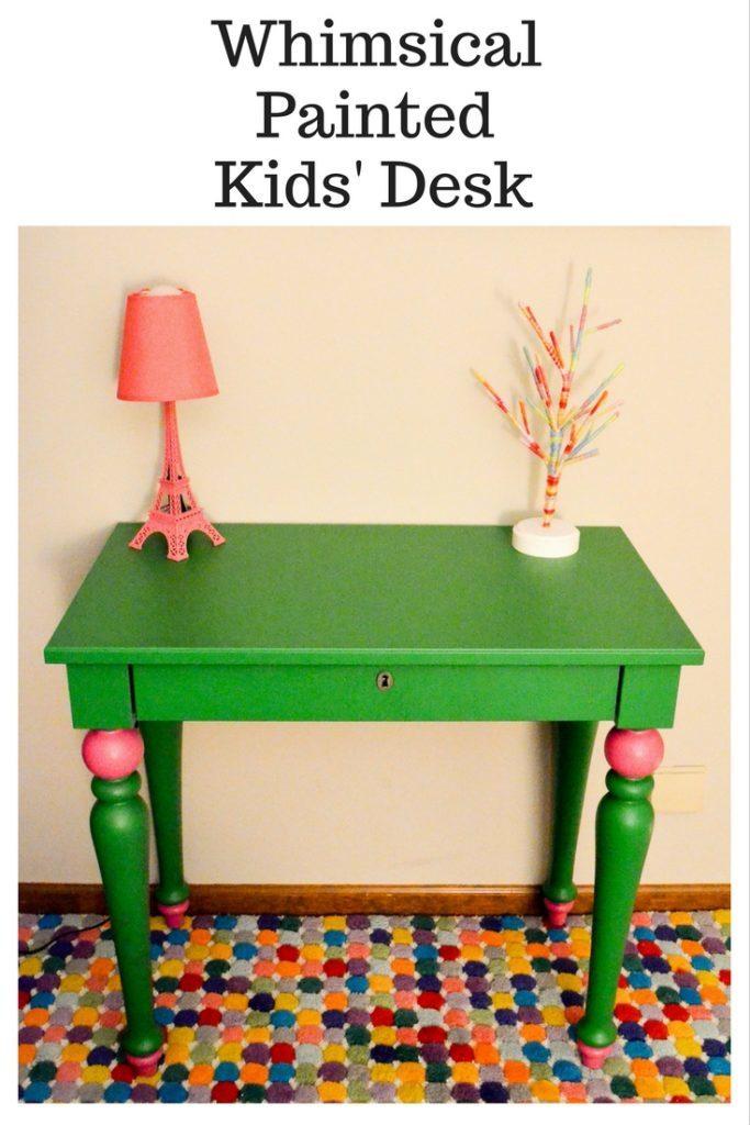 Whimsical Painted Kids' Desk