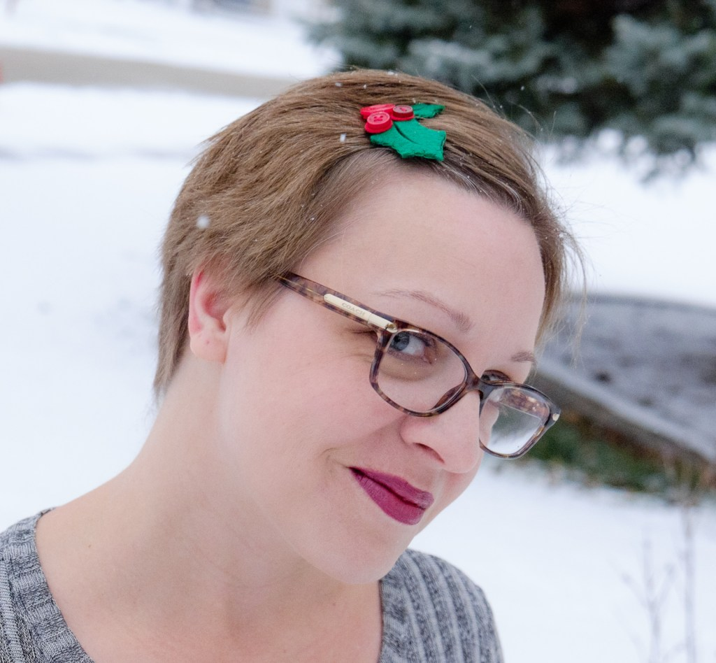 Felt Holly Berry Hair Clip