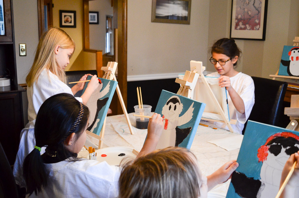 Perky Penguin Painting Party