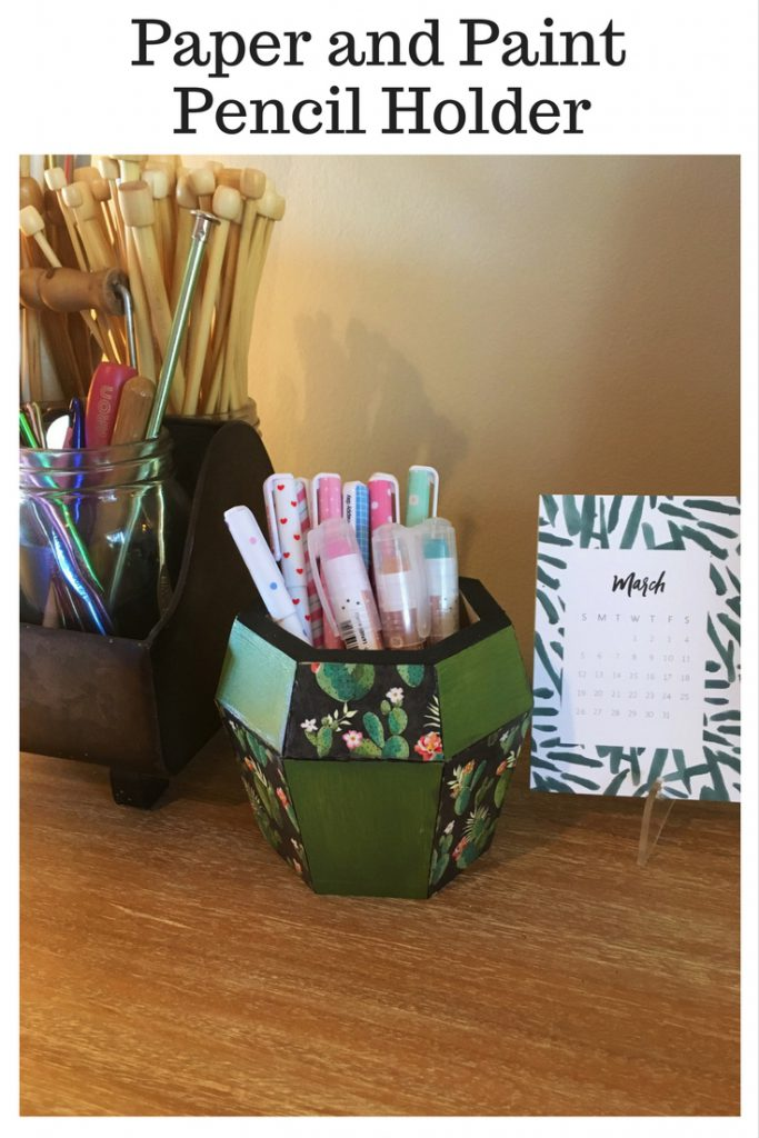 Paper and Paint Pencil Holder