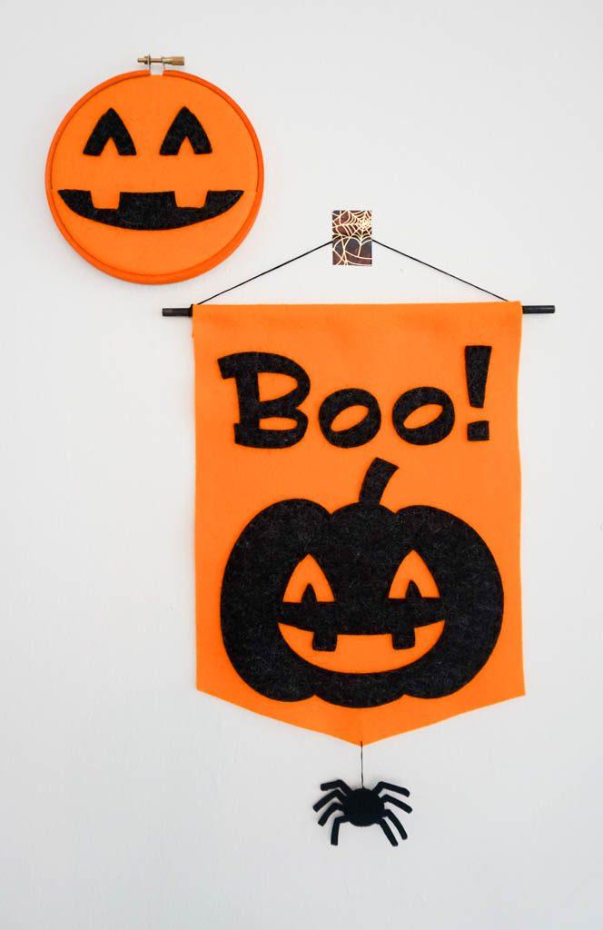 Pumpkin Boo Banner and Pumpkin Pocket Hoop