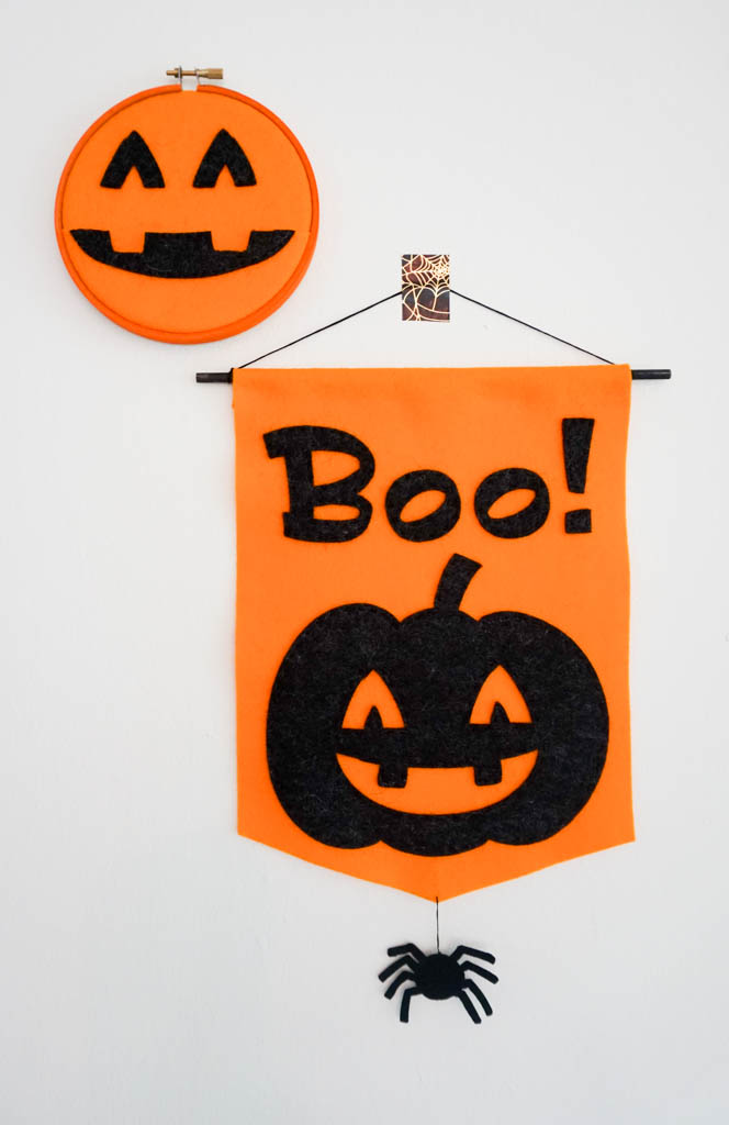 Pumpkin Boo Banner and Pumpkin Pocket Hoop
