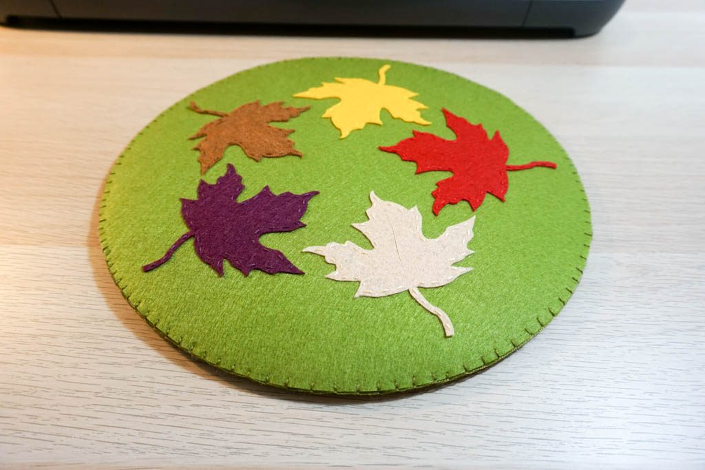 Felt Leaf Hot Pad