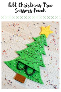 Felt Christmas Tree Scissors Pouch