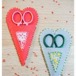 Felt Heart Scissors Pouch