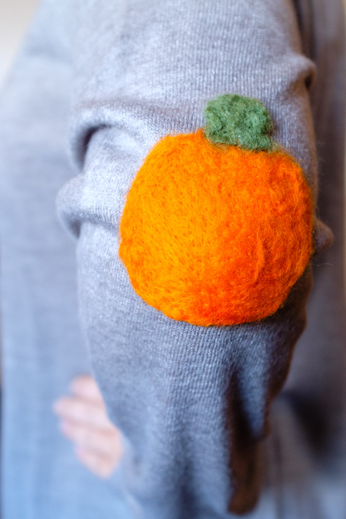 Felt Pumpkin Elbow Patch