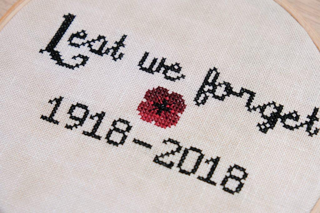Lest We Forget Poppy Cross Stitch Pattern