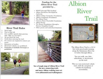 Official brochure with rules about Albion River Trail.