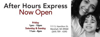 After Hours Express - Call to be sure of all information