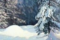 Group of Seven Artist Frank Johnston has beautiful work capturing the light and shadow of Canada especially in snow scenes.