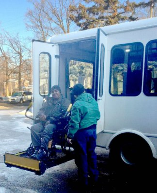 Handicap accessible transportant to Marshall
