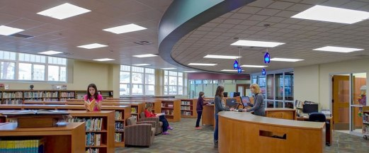 Library at Marshall High School