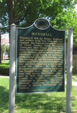 Marshall Michigan historical Markers
