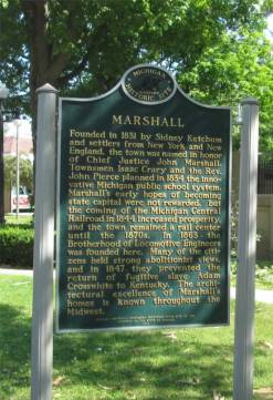 Marshall Michigan historical Markers