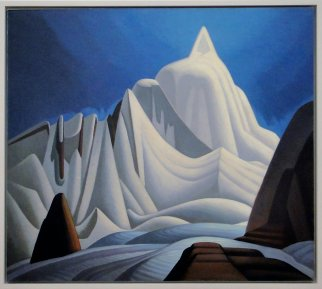 Mountain in the Snow - by Group of Seven artist Lawren Harris