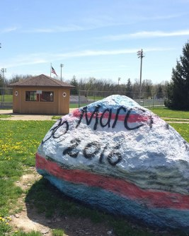 The rock at Marshall High School