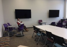 Classroom upstairs in the Ludington Center