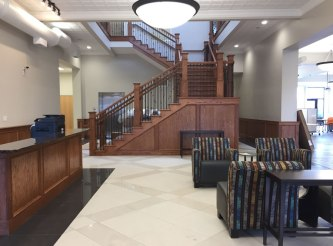 Entryway to the newly renovated Ludington Center