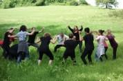 Probe im Wald mit Schülern der GWRS