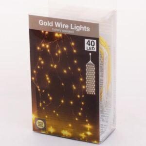 GOUDDRAAD 40 LED LAMPJES WARM WIT