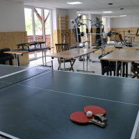 Sală fitness, tenis de masă