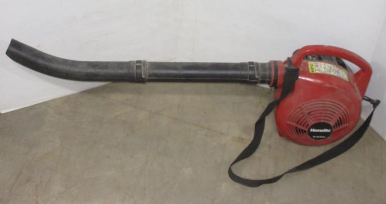 Albrecht Auctions Homelite Yard Broom Leaf Blower